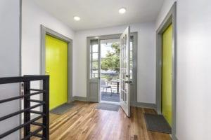 Foyer with front door.